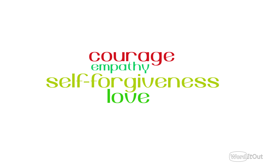 Reinforce the idea of Courage, Self-forgiveness, Love and Empathy
